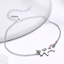 DIAINIYA   Hot Trendy 100% 925 Sterling Silver Lovely Licorne Link Chain Bracelet For Women Girl S925 Silver Jewelry Gift BKB077