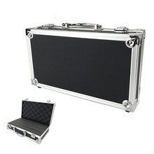 Aluminum Alloy Tool Box Lining Instrument Box Portable Storage Case Suitcase Toolbox 300*170*80mm with Sponge File Box(China)