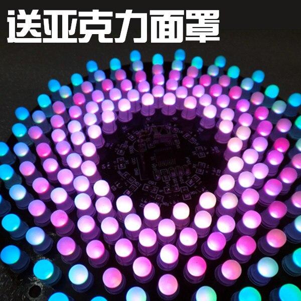 Kit de commande de microcontrôleur STM8 LED couleur rvb 9X18 Aurora bricolage Production créative de pièces électroniques