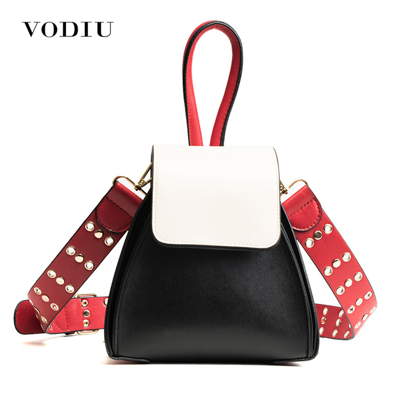 Women Bag Female Handbags Leather Over Shoulder Bag Crossbody 2018 Famous Brand Handbag Rivet Small Black Fashion Girl Tote Bags