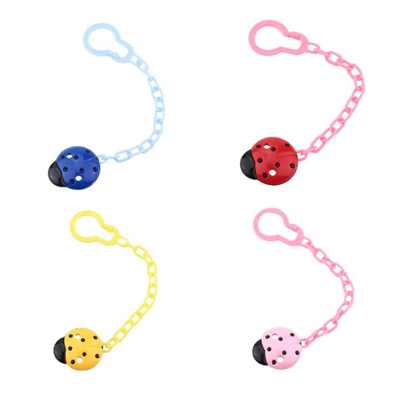 Newborn Baby Boys Girls Pacifier Chain Animal Fixed Clip Safety Anti-chain Children Chain Dummy Clip Holder For Nipples