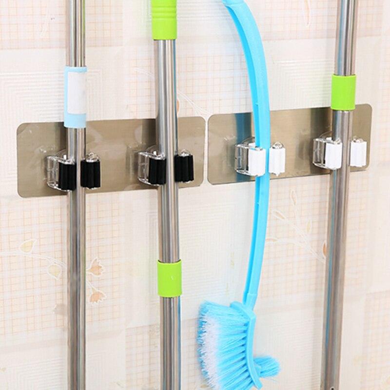 Kitchen Wall Organizer: TENSKE PVC Kitchen Wall Mounted Hanger Kitchen Storage Mop