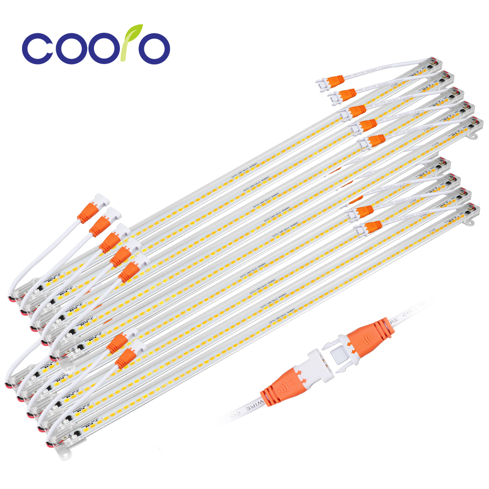 10PCS/lot LED Tube 50cm LED Bar Light 220V 50cm SMD 5730 Rigid LED Strip Light For Kitchen Under Cabinet