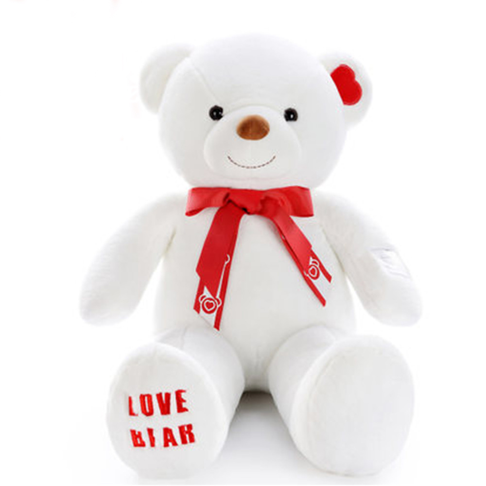 Fancytrader Pop Christmas Bear Plush Toy Giant Stuffed Valentine's Day Teddy Bear Gifts 120cm 47inch fancytrader new style teddt bear toy 51 130cm big giant stuffed plush cute teddy bear valentine s day gift 4 colors ft90548