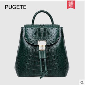 Crocodile-Backpacks Business Women's Casual for Pugete New
