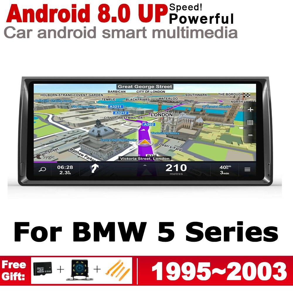 Lecteur multimédia de voiture 2 Din pour BMW série 5 E39 1995 ~ 2003 Android Radio GPS Navigation stéréo lecteur DVD de voiture Autoaudio