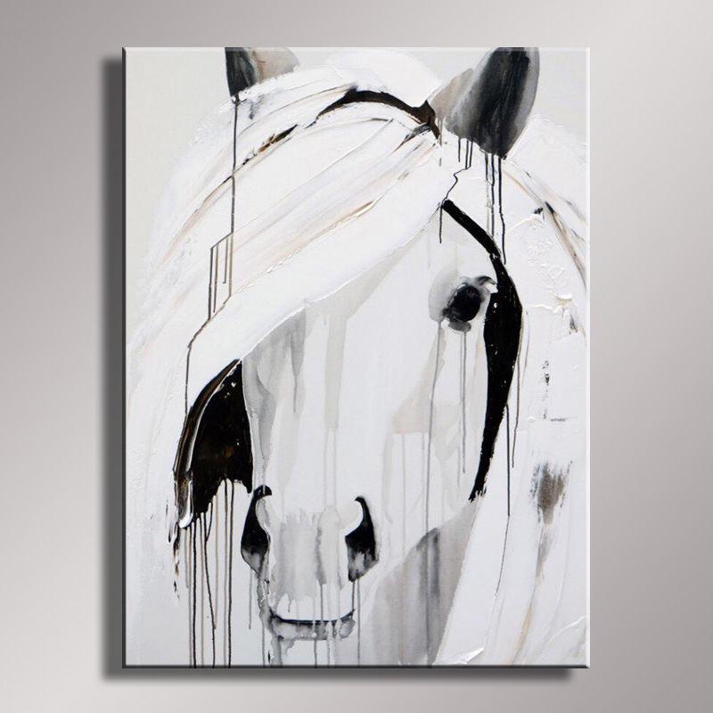Us 52 8 45 Off Wall Decor Oil Painting Modern Oil Painting On Canvas Abstract Painting Black White Pop Art Cheap Modern Paintings An 057 In Painting