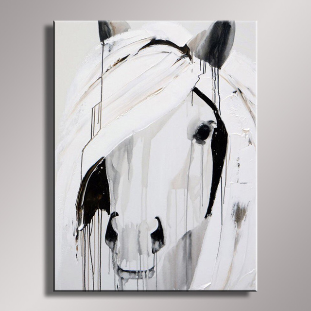 Us 57 6 40 Off Wall Decor Oil Painting Modern Oil Painting On Canvas Abstract Painting Black White Pop Art Cheap Modern Paintings An 057 In Painting