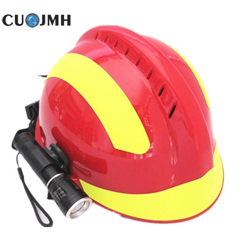 Outdoor Safety Helmet Climbing Emergency Rescue Helmet Firefighter Rescue Helmet +protective Glasses Safety Reflective Helmet firefighter s hand protective equipment fire rescue flame retardant safety gloves with reflective material tape