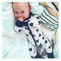 Heart shaped flowers rompers Infant Jumpsuits new born baby clothes 1st birthday costume cotton printing baby clothes