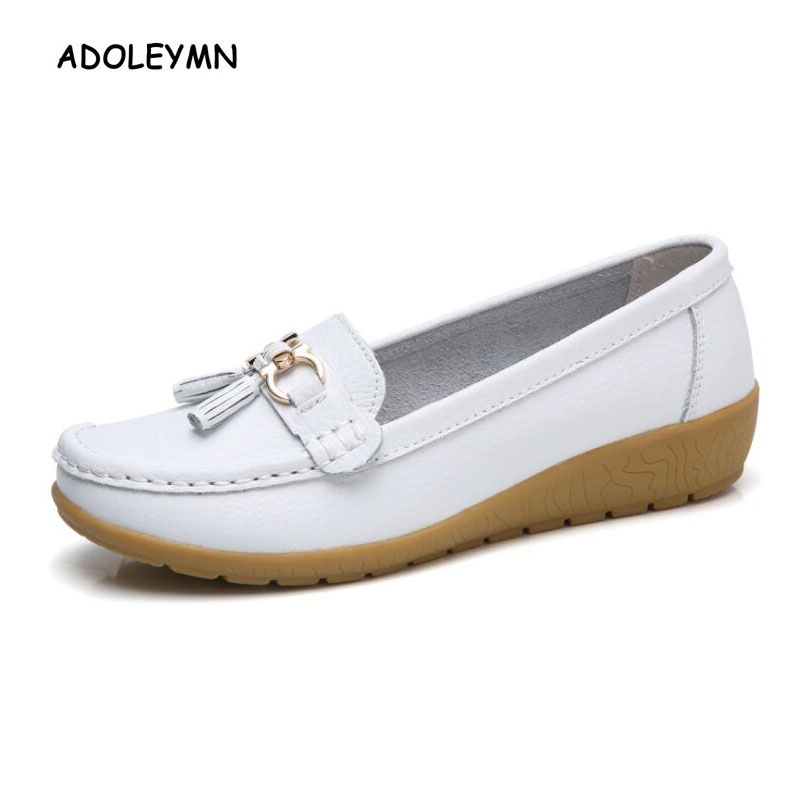 Shoes Woman Womens Shoes Genuine Leather Loafers Moccasins Shoes Autumn Spring Black Leather Ladies Shoes Casual Plus Size 44Shoes Woman Womens Shoes Genuine Leather Loafers Moccasins Shoes Autumn Spring Black Leather Ladies Shoes Casual Plus Size 44