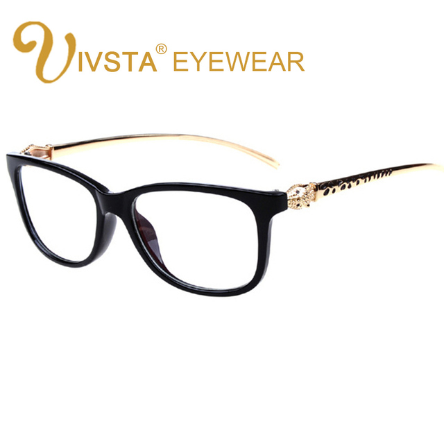 642d4671c1ab IVSTA Steampunk for Women Glasses Optical Lenses Spectacle Frames Brand  Designer Leopard Gold Metal Decoration Female grade Cat