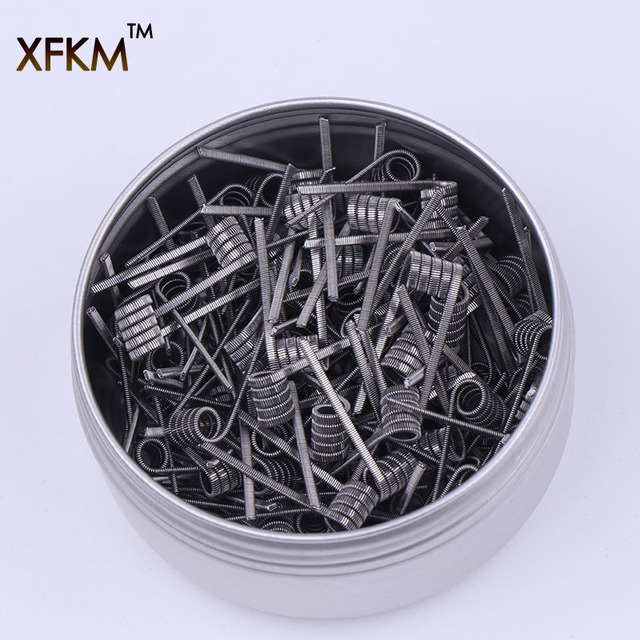 XFKM 50/100 pcs twisted  Fused Hive clapton coils premade wrap Alien Mix twisted Quad Tiger Heating Resistance rda coil 3