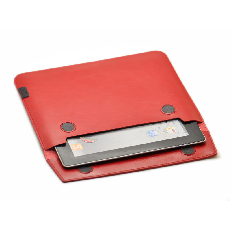 Transversal style of briefcase tablet sleeve pouch cover,microfiber leather tablet sleev ...