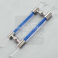 Blue Crystal 304 Stainless Steel Glass Door 600MM Entrance Glass Door Pull Door Accessories Hardware JB208C