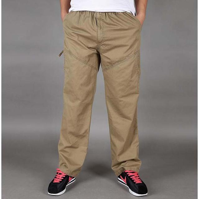 Pantalones delgados de verano 2016 nuevos Mens ocasionales flojas pantalones fertilizantes aumentó más el tamaño XL-6XL para hombre pantalones