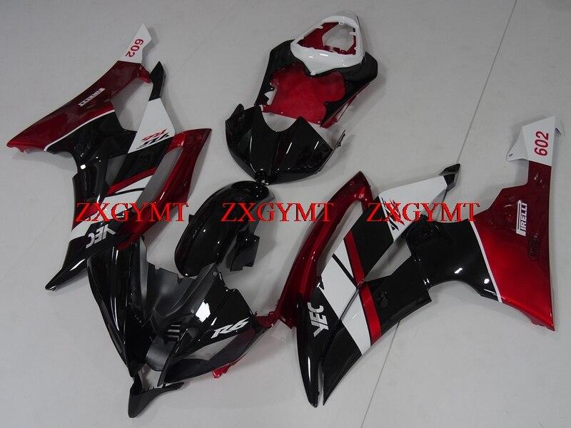 Full Body Kits for YZFR6 2008 - 2015 Fairings YZF R6 2012 Red Black Plastic Fairings YZF R6 2012Full Body Kits for YZFR6 2008 - 2015 Fairings YZF R6 2012 Red Black Plastic Fairings YZF R6 2012