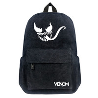 Fashion Backpack Marvel Venom Canvas Travel backpack Men Women Unisex Waterproof School Bag Book Bag Laptop Bag