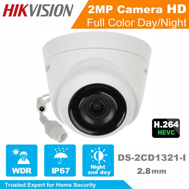 Hikvision Network Mini Dome Camera 2MP DS-2CD1321-I EXIR Turret Network Camera CCTV camera POE IP67 Support Upgrade hikvision cctv poe 4mp camera ds 2cd3345 i hd night version onvif exir turret wdr dome ip security camera replace ds 2cd2345 i