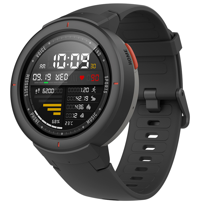 amazfit verge unisex smartwatch with 1.3-inch amoled screen phone calling benefit and hr sensor gps