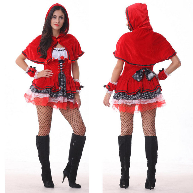 Sexy Halloween Costumes For Women Fancy Cosplay Dresses Little Red Riding Hood Wolf Bait Carnival Costume  sc 1 st  AliExpress.com & Sexy Halloween Costumes For Women Fancy Cosplay Dresses Little Red ...