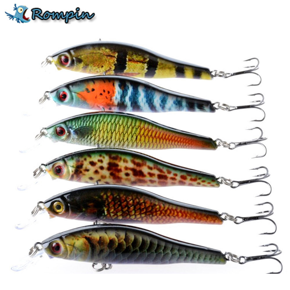 Rompin 1PCS 9.5cm 11.5g Hard Bait fishing lure artificial bait wobbler bass fishing accessories fake minnow lures 1pcs 16 5cm 29g big minnow fishing lures deep sea bass lure artificial wobbler fish swim bait diving 3d eyes
