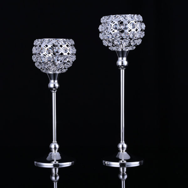 4282 free shipping 1set of 2pcs Romantic crystal lantern metal