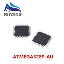 10pcs ATMEGA328P AU ATMEGA328P ATMEGA328 8 bit ไมโครคอนโทรลเลอร์ AVR 32 k แฟลชหน่วยความจำ QFP 32