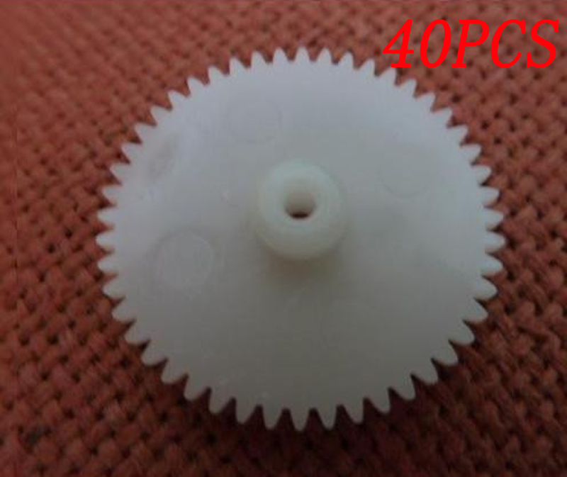 40PCS 0.5 Modulus Single-layer Gear 48T 52T Inner Hole 2mm OD 2527mm Gearwheel DIY Spare Parts for RC CarBoatAirplane Model