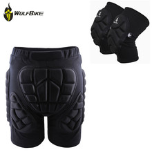 WOSAWE Protective Snowboard Shorts Knee Pads Set Motocross Off Road Roller Armor Skis Hockey Protection Suit