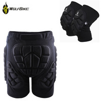 WOSAWE Protective Snowboard Shorts Knee Pads Set Motocross Off Road Roller Armor Protective Pads Skis Hockey Protection Suit