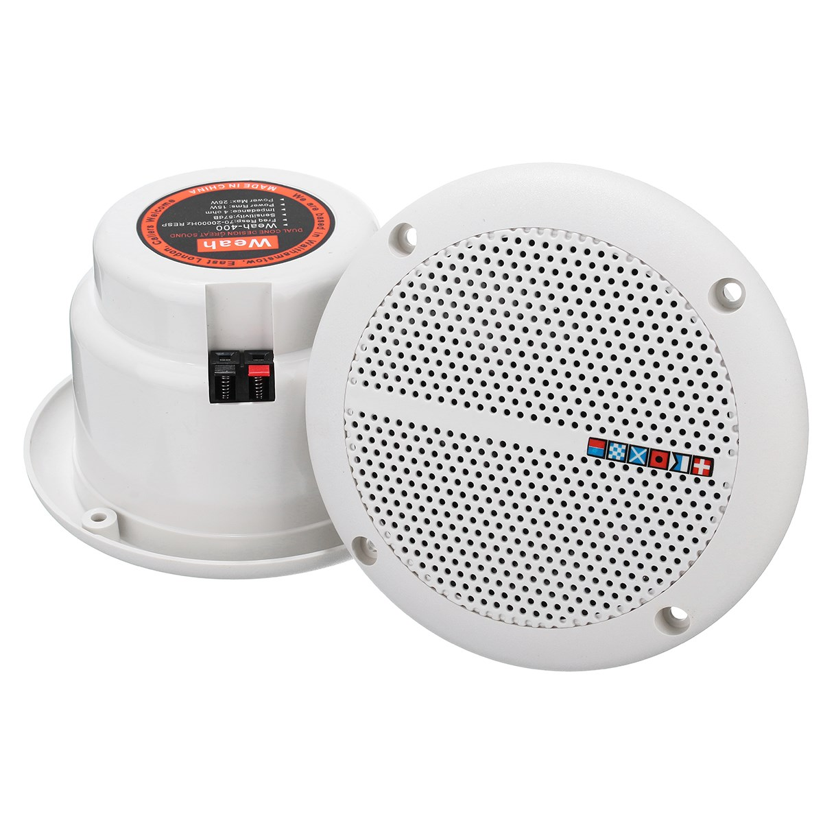 Leory 1 Pair Loudspeakers Waterproof Marine Boat Ceiling Wall Speakers  Kitchen Bathroom Water Resistant 25w Ceiling Speaker In Speakers From  Consumer. Bathroom Ceiling Speaker System
