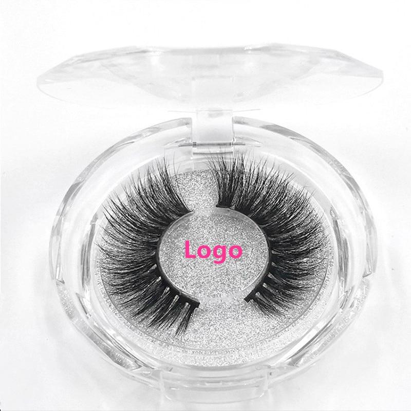 Image 5 - 50pcs Mink Lashes Luxury Natural long Mink False Eyelashes Cross Thick Extension Eyelashes 18Styles Free Logo Wholesale-in False Eyelashes from Beauty & Health