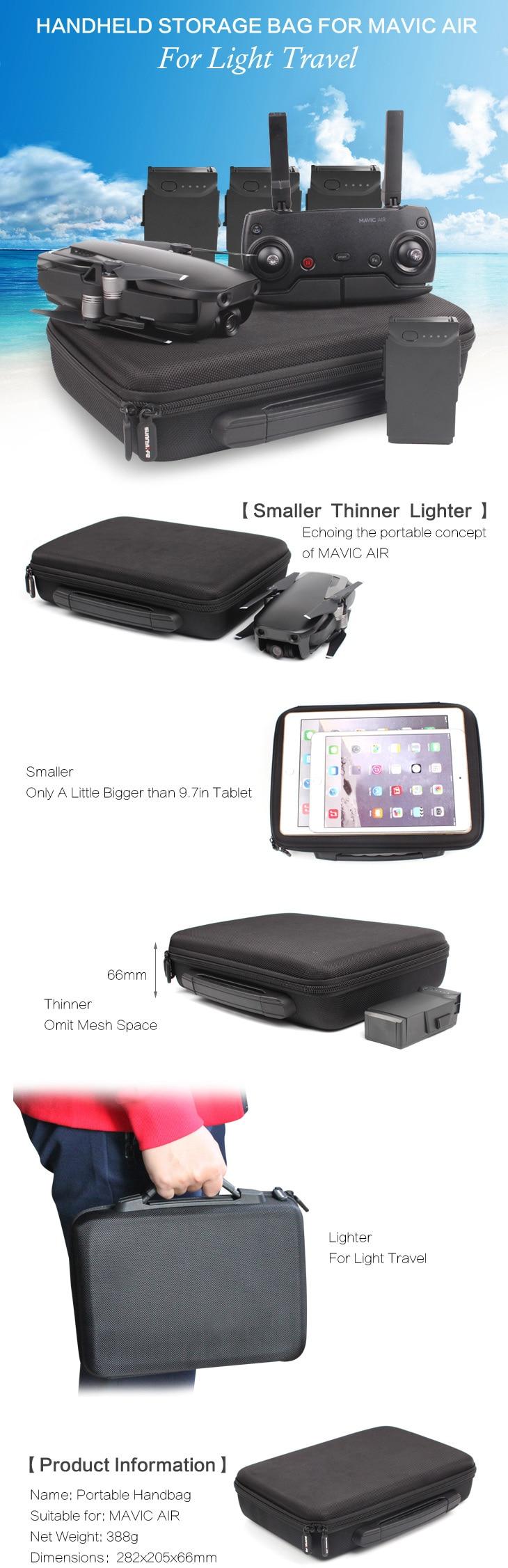 Sunnylife Storage Bag Portable Carrying Case Handbag For DJI MAVIC