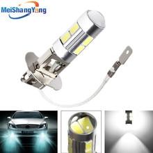 цена на H3 10 led car light Fog led high power lamp 5630 smd Auto car led bulbs Car Light Source parking 12V 6000K Headlight White