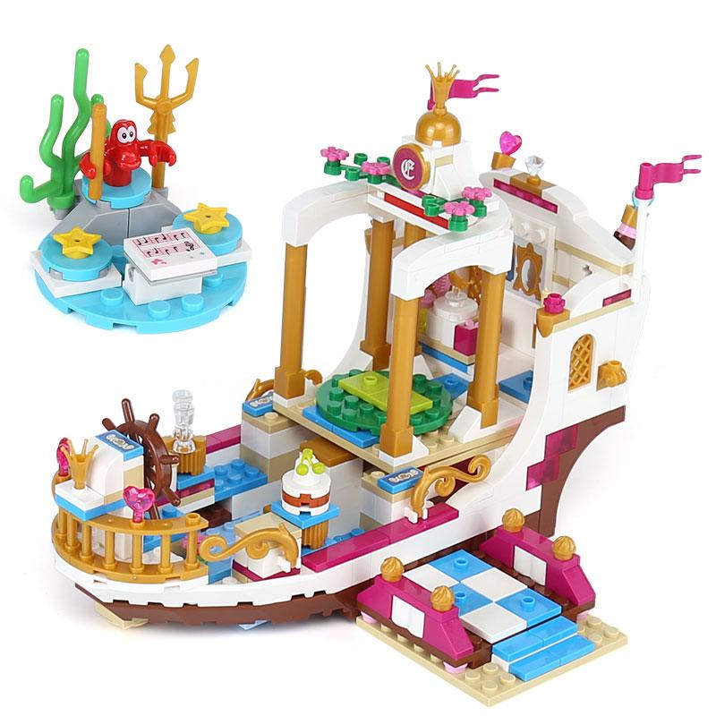 425 шт. Романтический Русалка Королевский луна корабль разведки блоков куклы для девочек Подарки, совместимые Legoings друзей подарок на день ро... ...