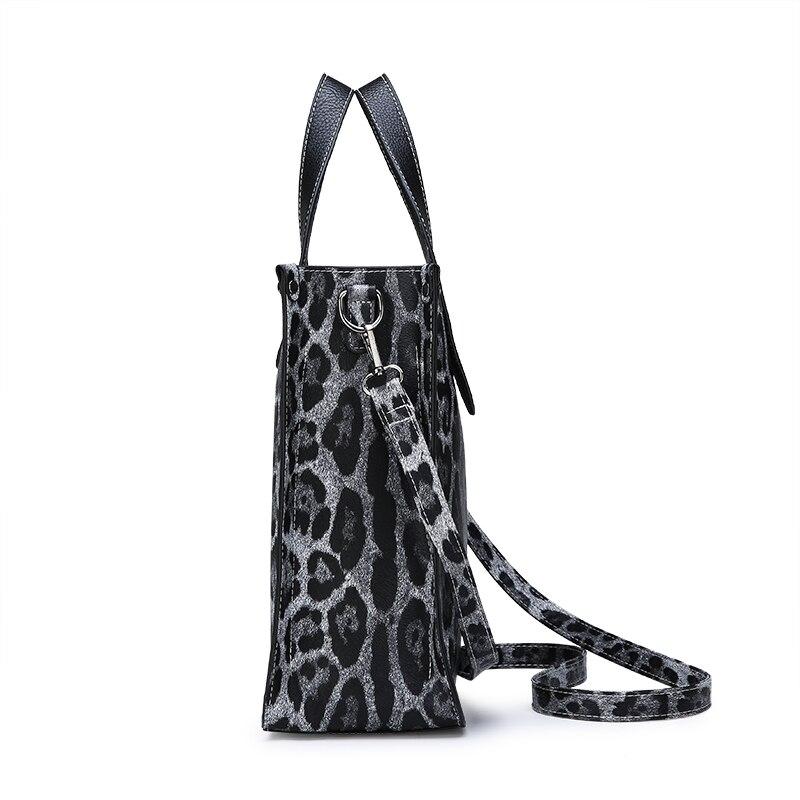 Gray Lusso Della Borsa 2 Sacchetto Capienza Modello Qualità Nuove brown Leopardo Delle Zebra Grande Spalla Del Messaggero Alta Modo Pcs Di Donne Casuale F81Irq8