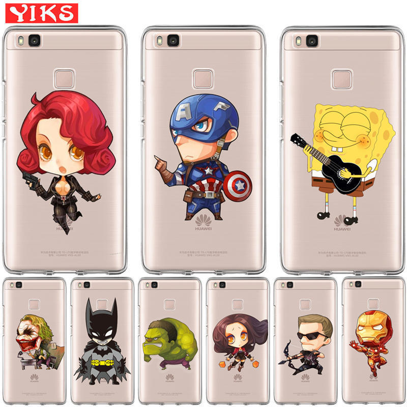 Cute Batman Joker Case For Huawei Mate 9 10 P8 P9 P10 P20 Lite Plus Pro 2017 Cove Silicone Soft TPU Coque Capinha Etui