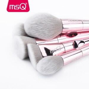 Image 4 - Msq 10 pincéis de maquiagem, kit de pincéis de maquiagem profissional para blush, base, sombra, viagem