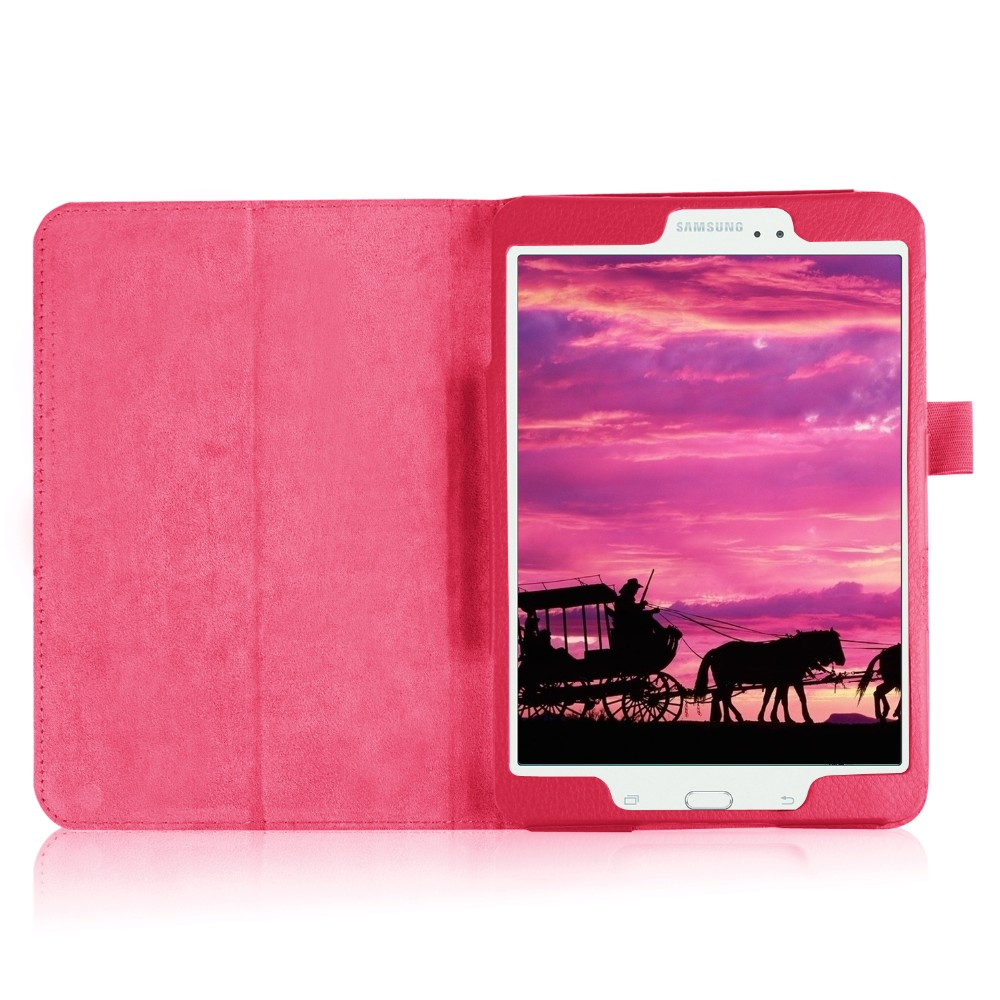 Tab A 8.0 2017 Litchi Folio PU Leather Case Flip Cover For Samsung Galaxy Tab A 8.0 2017 A2S T380 T385 SM-T385 Tablet Case
