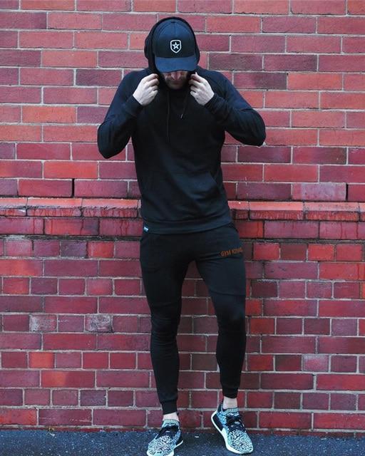 Fashion Mens Joggers Pants Skinny Casual Trousers Pants Top Quality Men Sweatpants 4