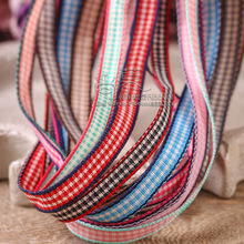 100yards 10/16/25/40mm mini small plaid check ribbon for korean hair bow accessories bouquet packing diy handcraft supplies