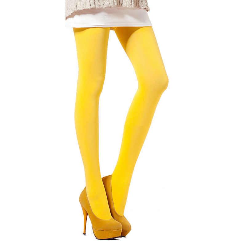 Hot Sale Celana Ketat Ultra Elastis Baru Pria Stoking Sutra Kantong Sarung Pakaian Dalam Kaus Kaki untuk Seksi Stoking Kuning