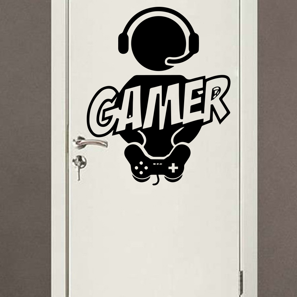 Deur sticker Vinyl Voor jouw Mancave! Decoratie Stickers PS4 Xbox One Gaming poster Decor