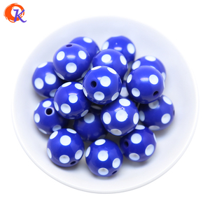 Image 3 - Cordial Design Fashion Jewelry Mixed Color 12MM 14MM 16MM 18MM 20MM Resin Polka Dot Beads For Chunky Beaded Necklace Jewelry