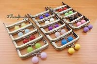8 cm 16 colors bobbles metal frame anti brass purse frames (wholesale) Z64
