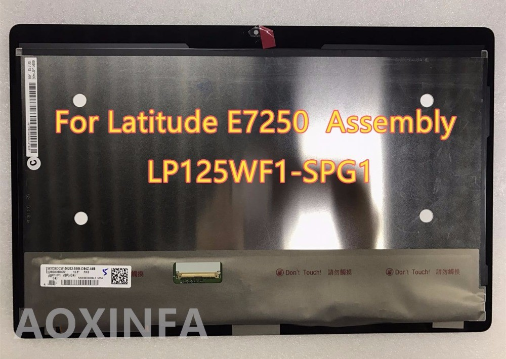 Free shipping new original 12.5LCD+Touch digitizer Screen Assembly LP125WF1-SPG1 For Latitude E7250 FHD new original lcd touch screen digitizer with frame for 2013 asus google nexus7 fhd 2nd gen k008 me571 lte 3g free shipping