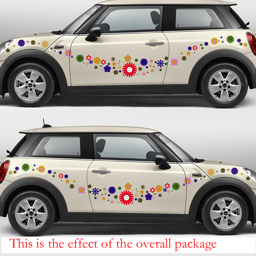 free shipping colorful flowers romantic graphic vinyl car sticker for for smart truck motobike helmet minifree shipping colorful flowers romantic graphic vinyl car sticker for for smart truck motobike helmet mini