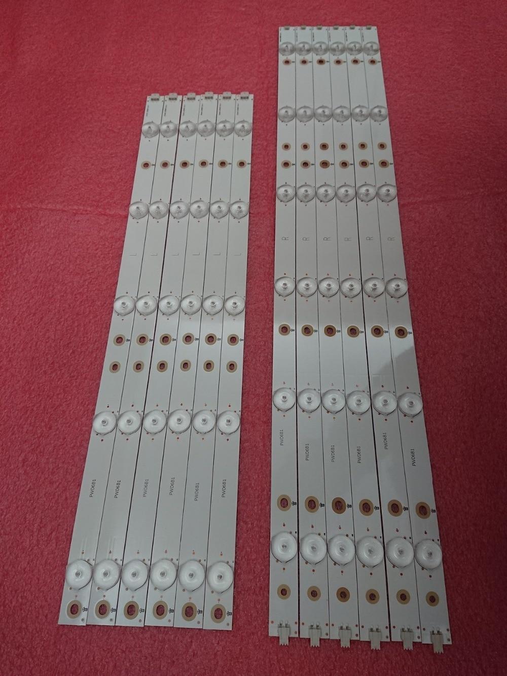 New 12 PCS/set LED Backlight Strip For 50PFK4509 TPT500J1-LE8 50PFH5300 50pfk4009 500TT26 500TT25 V5 500TT56 500TT55 V0