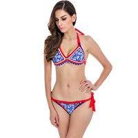 2016 Sexy Handmade Crochet Bikini Set Swimwear Women Swimsuit Female Brazilian Push Up Bikinis Beach Wear